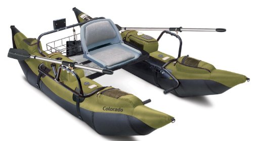 Classic Accessories Colorado Inflatable Fishing Pontoon Boat With Motor Mount (Trolling Fishing Boat Bass)