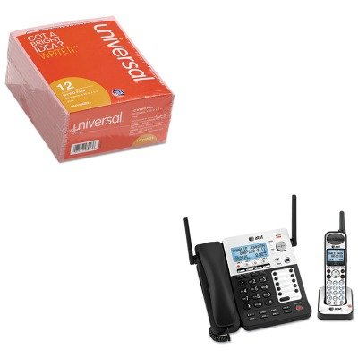 KITATTSB67138UNV48023 - Value Kit - Atamp;t SB67138 DECT6 Phone/Ans System (ATTSB67138) and Universal Important Message Pink Pads (UNV48023)