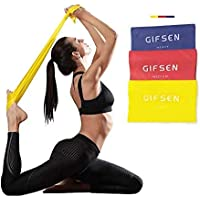 Gifsen Resistance Bands, 3 Color-Coded for Upper & Lower Body & Core Exercise, Physical Therapy, Yoga, Lower Pilates, at…