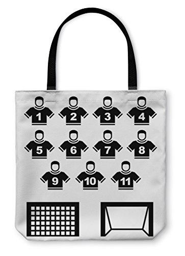 Gear New Shoulder Tote Hand Bag, Football Team Black Symbols, 18x18, - Number Kicks Usa Order