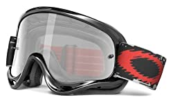 Oakley O-frame With Clear Lens Included Mx Goggles O-frame Sand Mx & Clear Af Lens (Jet Blackgrey, One Size)