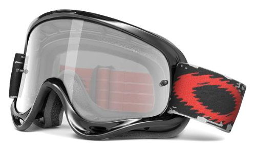 Oakley O-Frame with Clear Lens included MX Goggles O-Frame Sand MX & Clear AF Lens (Jet Black/Grey, One - Goggles O Oakley Frame
