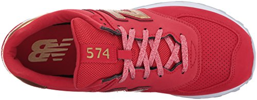 New Red Womens Trainers Team Metallic Sport Balance 574 Synthetic Varsity Gold ggwrRCq