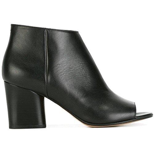Maison Margiela Women's Black Leather Ankle Boots - Booties Shoes - Size: 11 - Margiela Boutique