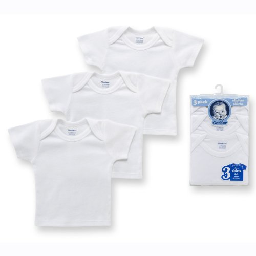 Gerber 3 Pack Baby Pull-On Crewneck Undershirt - 398193060, White, 24 Months