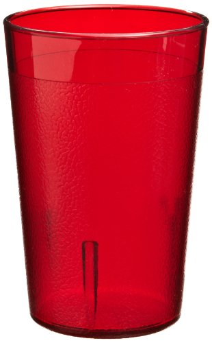 Red Colorware Tumbler - Cambro 800P156 7.8 -Ounce Capacity 2-5/8-Inch Diameter by 4-Inch Height Ruby Red Plastic Colorware Tumbler (Case of 12)