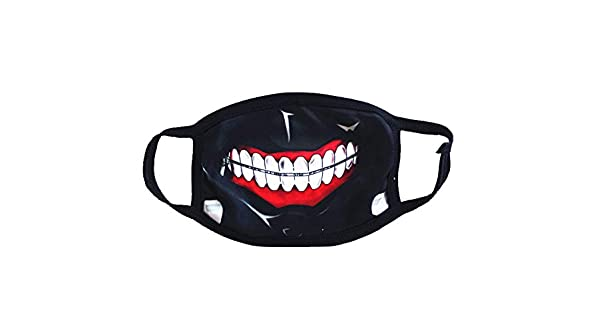 160a7fe16 Anime around Tokyo Ghouls Mask Unisex Black Mouth Face Mask Respirator For  Cycling Anti-dust  Amazon.ae