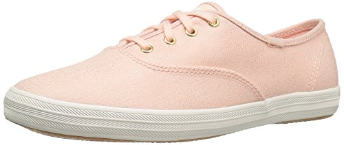 Keds Champion Canvas Sneaker (Keds Women's Champion Metallic Canvas Fashion Sneaker, Rose Gold, 7.5 M US)