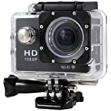 New HOT WIFI 1080P HD Action Sports Camera Built-in microphone ,Tuscom Waterproof-30M, Action Camera (2.0 Inch Ultra HD Screen)Camcorder HD 1080P Mini DV Pro Camcorder (Black)