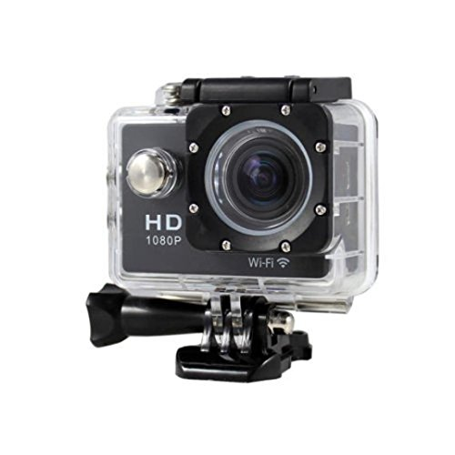 (New HOT WIFI 1080P HD Action Sports Camera Built-in microphone ,Tuscom Waterproof-30M, Action Camera (2.0 Inch Ultra HD Screen)Camcorder HD 1080P Mini DV Pro Camcorder (Black))