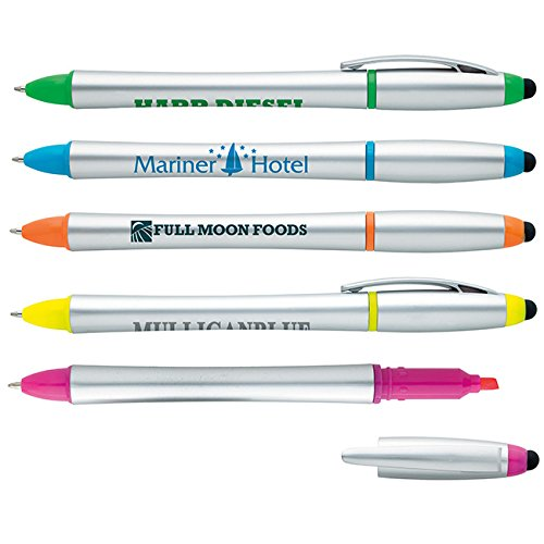 Stylus Highlighter-Pen - 100 Quantity - PROMOTIONAL PRODUCT / BULK / BRANDED with YOUR LOGO / CUSTOMIZED - Kineticpromos #55727 (Promotional Highlighter)