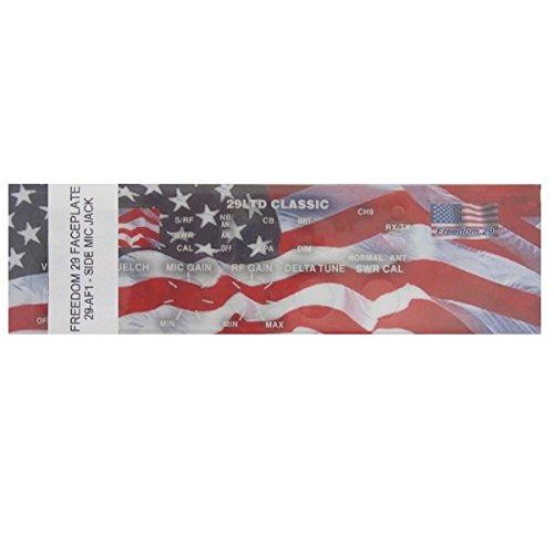 Cobra 29LTD Classic 40-Channel CB Radio American Flag Freedom Face Plate Sticker by Aries Automotive