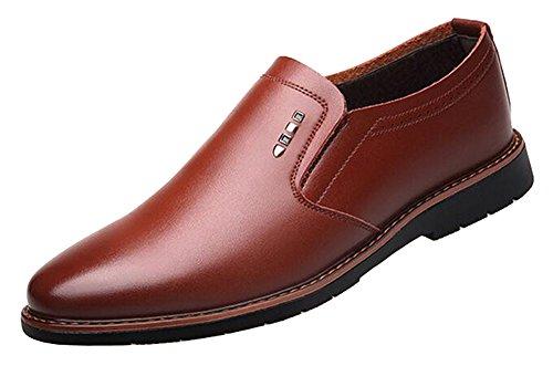 Zapatos De Vestir Del Zapato De La Oficina De Negocios De Derby Simple Llano Del Dedo Del Pie Para Hombre 2017 Nuevo Marrón