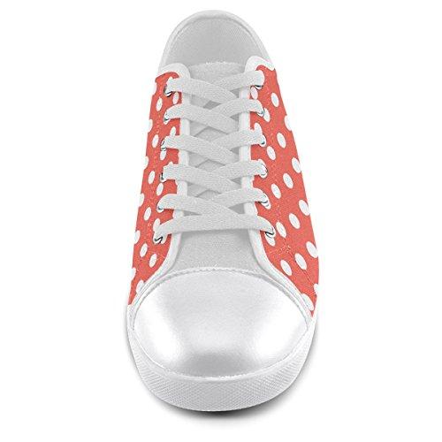 Scarpe Da Uomo Artsadd Custom Arancione Rosso A Pois Per Uomo (modello016)
