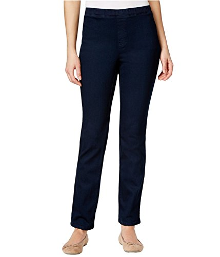 Karen Scott Womens Straight-Leg Casual Trousers Blue PS/29 - Petite from Karen Scott