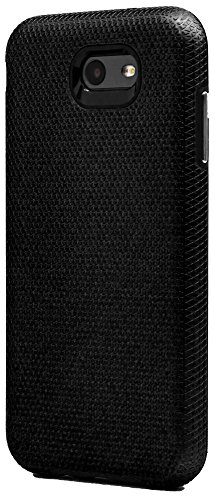 Full-Body Impact Cover w/Premium Tough Texture Grip Hard-Back Rubber Cushion Hybrid Armor Shell Protector Black For Samsung Galaxy J7 Prime 2017 Case (Hardback Case)