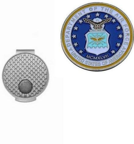 - Air Force Golf Ball Marker w/Silver Hat Clip