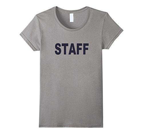 Color Guard Costumes Uniforms (Womens Staff T-shirt Fashion Guards Uniform Unisex Top Tee Small Slate)