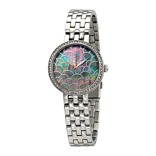 Lucien Piccard Ava Black Mother of Pearl Dial Ladies Watch LP-28022-11MOP