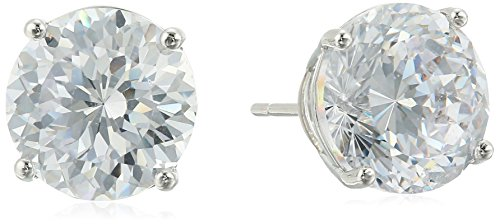 silver-plated-100-facets-collection-cubic-zirconia-round-stud-earrings