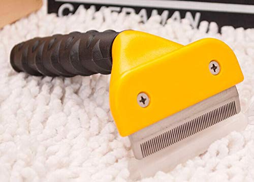 Pet Dog Deshedding Removal Hair Furmins Comb for Cat Grooming Brush Tool Hair Clipper Stainless Dog Cat Combs Supplies,S