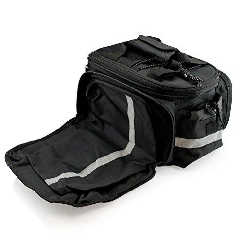 WINOMO Fahrrad hinten Tail Sitz Kofferraum Tasche Fahrradtasche Pouch Rack Schulter Travel (schwarz)
