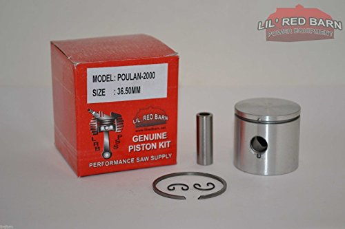 Lil Red Barn Poulan 2000, 2300 Piston Kit 36.5MM Bore, Replaces Part # 530069545 Quality Tooling 2 Day Standard Shipping to All 50 States! (Chainsaw Parts Poulan 2000)