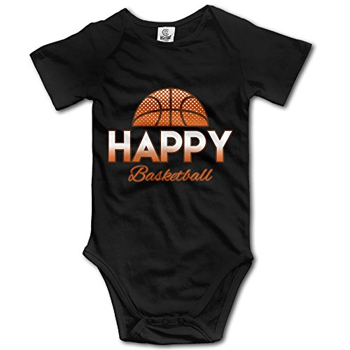 LWI DIW Happy Basketbal Newborn Baby Boys Girls Funny Short-Sleeve Bodysuit Romper Outfits