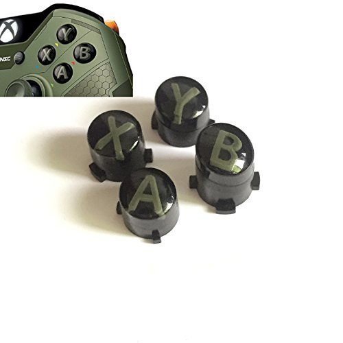 Replacement Bullet Buttons ABXY Mod Kit Levers Joystick For Xbox One S Slim Elite Controller (Green)