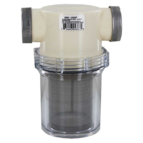 Hy-Pro Hypro 3350-0058P In-Line Strainer with Clear Bowl - 50 Mesh - 1'' FNPT