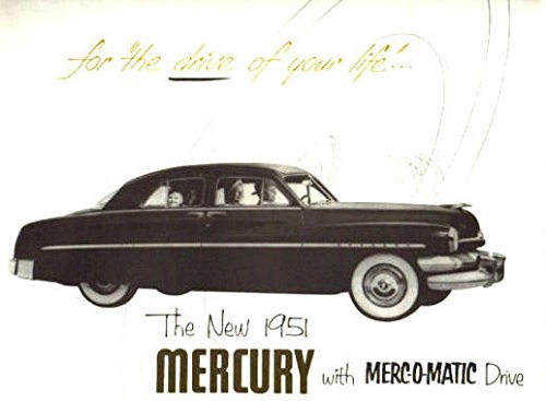 - A MUST FOR OWNERS, RESTORERS & ENTHUSIASTS - 1951 MERCURY FULL COLOR DEALERHIP SALES BROCHURE - Includes All Mercury Coupes, Sedans, Convertible and Wagons - ADVERTISMENT - LITERATURE 51