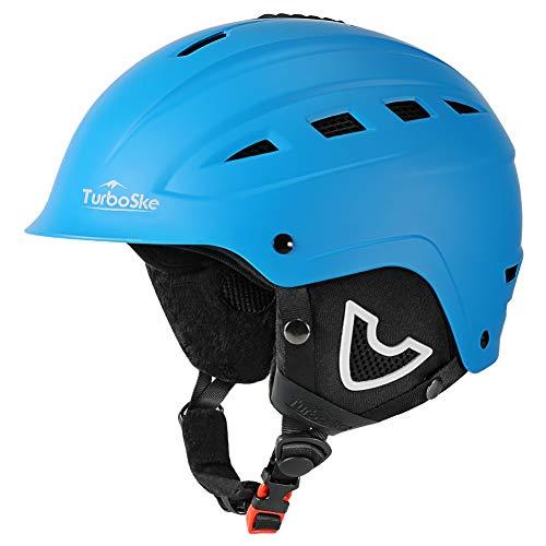 TurboSke Ski Helmet, Snow Sports Helmet, Snowboard Helmet Men Women Youth (Blue, M (21-22))