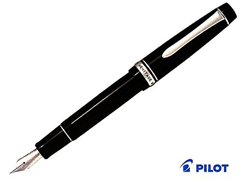 Pilot Fountain Pen Custom Heritage 912, Black Body, WA-Nib
