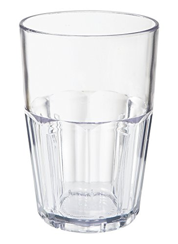 14 oz. Clear Tumbler, SAN Plastic Bahama Tumblers by GET 9914-1-CL-EC (Pack of 4)