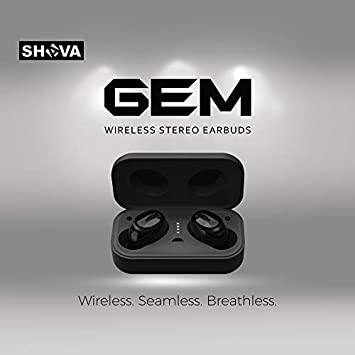 Wireless Bluetooth Earbuds, SHAVA GEM Bluetooth Headphones with Noise Cancelling and Microphone, True Wireless Earbuds with Touch Sensor and 3D Stereo Sound Upgraded Version