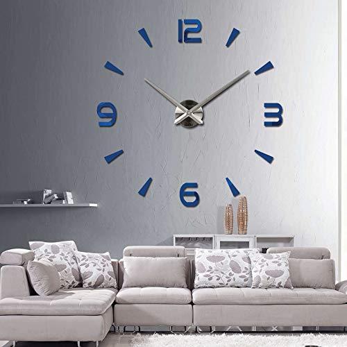 Kamas 2019 New Wall Clock Quartz Watch reloj de pared Modern Design Large Decorative Clocks Europe Acrylic Stickers Living Room klok - (Color: Dark Gray, ...