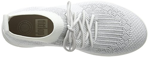 Fitflop Kvinders Uberknit Slip-on Høje Top Sneakers Metallisk Sølv / Urban Hvid FciQ8