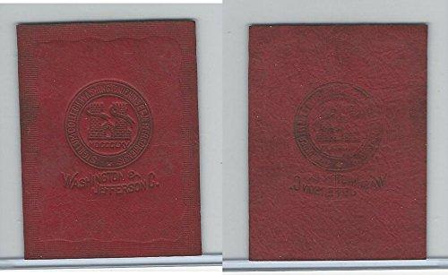 L20 American Tobacco Leather, College Seals, 1912, Washington & Jefferson (B)