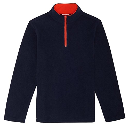 French Toast Little Boys' Long Sleeve Microfleece, Navy, 7 (Boys Uniform Sweater)