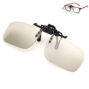 HaloVa Clip-on 3D Glasses, Passive Circular Polarized 3D Glasses for SONY, LG, Vizio, Toshiba, LG, Philips, Panasonic and JVC 3D TV, Imax