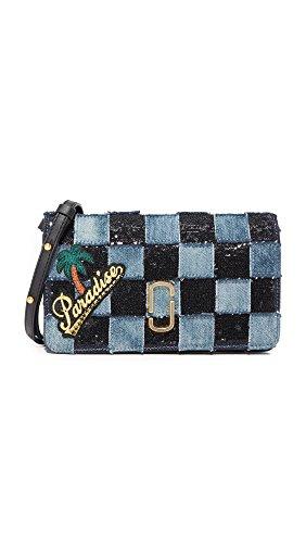 Marc Jacobs Women's Denim Patchwork Wallet Clutch, Denim Multi, One - Clutch Jacobs Wallet Marc