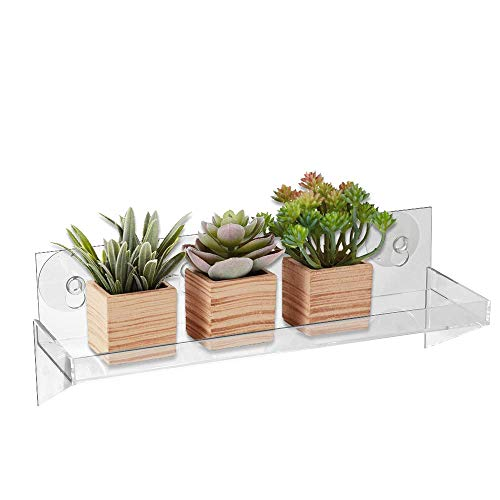 Urban Leaf - Suction Cup Shelf for Plants Window Bathroom or Kitchen -