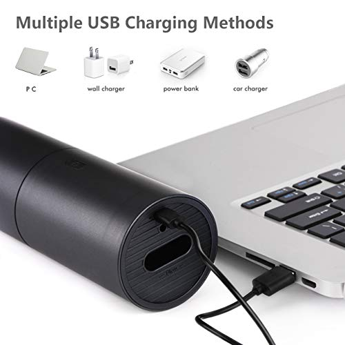 UKHONK Mini Vacuum Cleaner,Handheld Vacuum and Blower 2 in 1,Computer keyboard Cleaner,Cordless USB Rechargeable,Portable Car Vac Cleaner with Quick Charge,for Desktop,Car Interior and Other Crevices