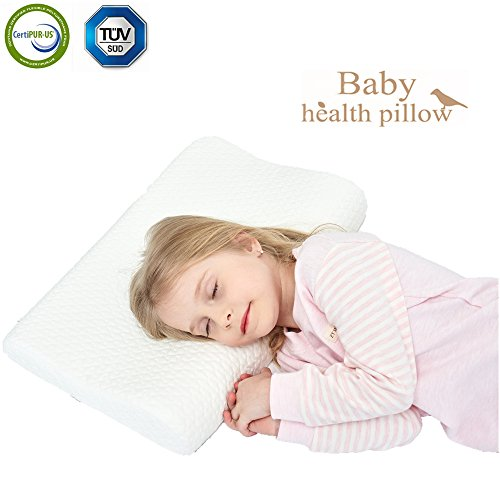 Childrens Foam (Memory Foam Toddler Pillow,Breathable Kids Contour Pillows For Sleeping(16.68x12.2x2.36/1.5In))