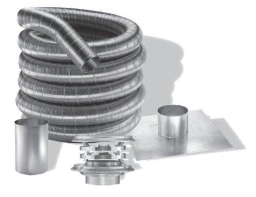 3'' DuraFlexAL 35' Aluminum Chimney Liner Kit - 3DFA-35K by Duraflex Al