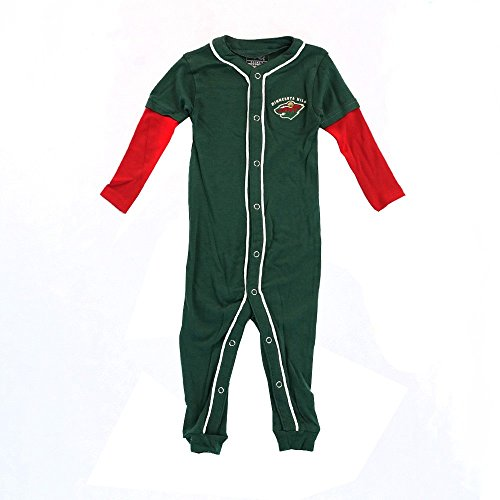 Outerstuff Minnesota Wild NHL Full Button Down Team Color Sleeper Blanket Infant 3-18 Months ()