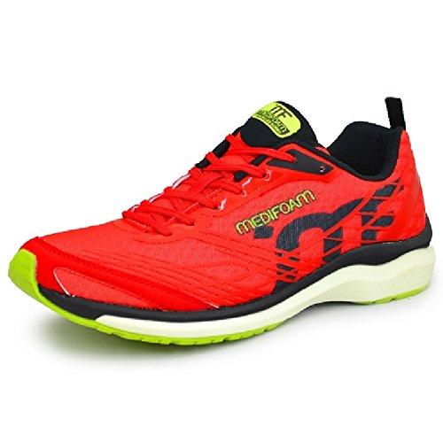 ランニングシューズ メンズ アキレス メディフォーム MEDI FOAM ジョギング マラソン 男性用 ACHILLES SORBO ソルボ 靴 /MFR1000 B071YXBLCJ 25.5 cm レッド