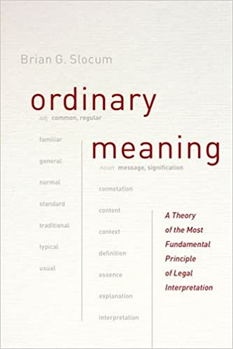Ordinary Meaning cover