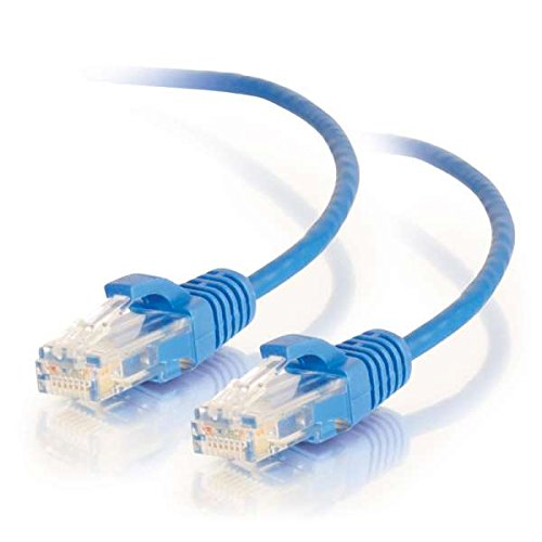 C2G 01076 Cat6 Cable - Snagless Unshielded Slim Ethernet Network Patch Cable, Blue (3 Feet, 0.91 Meters) (Patch Cable Cat6 C2g)