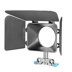 Neewer 15 Mm Rail Rods Matte Box For Canon Nikon Sony Fujifilm Olympus Panasonic Dslr Camera, Camcorder Video Movie Film Making System(blue)